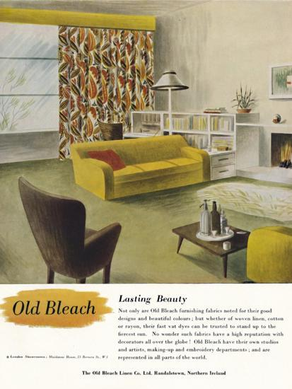 'Lasting Beauty - Old Bleach Linen Co. advertisement', c1945-Unknown-Photographic Print
