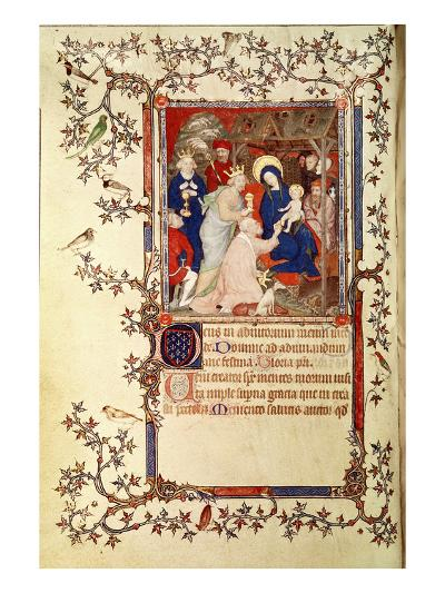 Lat 18014 F.42V the Adoration of the Magi, from Les Petites Heures De Duc De Berry, C.1385-90-Jacquemart De Hesdin-Giclee Print