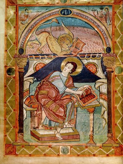 Lat 8850 F.81V St. Mark, French, from the Court School of Charlemagne-French School-Giclee Print