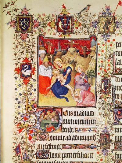 Lat 919 F.77 the Deposition of Christ, from the Grandes Heures De Duc De Berry, 1409 (Vellum)-French-Giclee Print