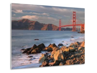 Late Afternoon, Baker Beach, San Francisco-Vincent James-Metal Print