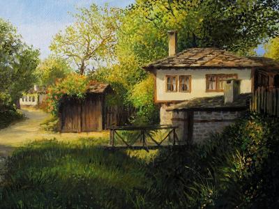 Late Afternoon In Bojenci-kirilstanchev-Art Print