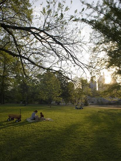 Late Afternoon in Piedmont Park in Midtown, Atlanta-Krista Rossow-Photographic Print