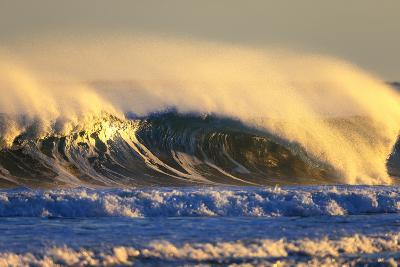 Late Afternoon Light Illuminates a Winter Wave Off the Coast of Maine-Robbie George-Photographic Print