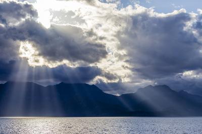 Late Afternoon Light Rays over Isla Del Carmen, Baja California Sur, Mexico, North America-Michael Nolan-Photographic Print