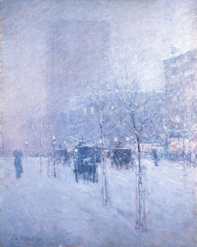 Late Afternoon, New York: Winter-Frederick Childe Hassam-Giclee Print