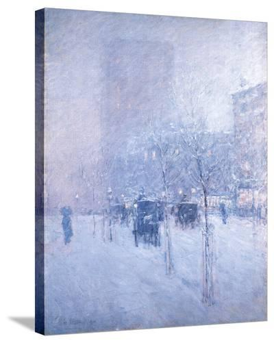 Late Afternoon, New York: Winter-Frederick Childe Hassam-Stretched Canvas Print