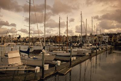 Late Afternoon with Boats at the Dock at St. Francis Yacht Club Near the Presidio-Macduff Everton-Photographic Print