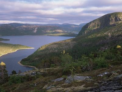 Late Evening Light Over Norwegian Fjord, Lausvnes, Nord-Trondelag, Norway, Europe-Pete Cairns-Photographic Print