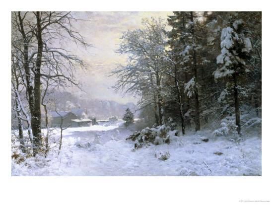 Late Lies the Winter Sun-Anders Andersen-Lundby-Giclee Print