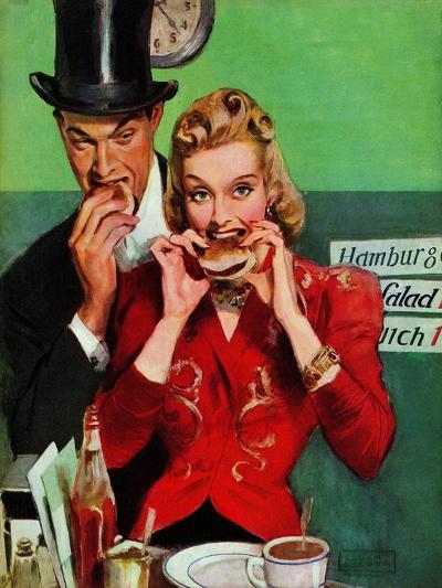 """Late Night Snack,"" March 22, 1941-John LaGatta-Giclee Print"