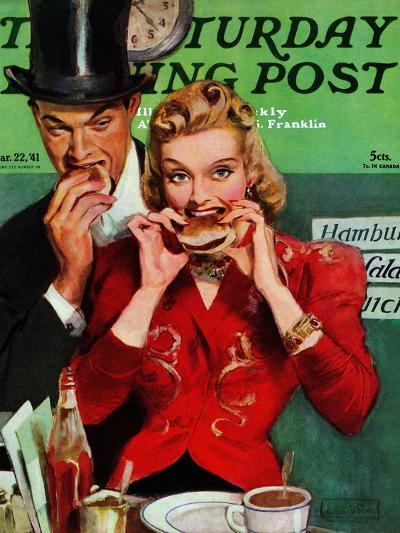 """Late Night Snack,"" Saturday Evening Post Cover, March 22, 1941-John LaGatta-Giclee Print"