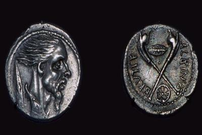 Late republican Roman coin showing the head of a Gaul, 1st century. Artist: Unknown-Unknown-Framed Giclee Print