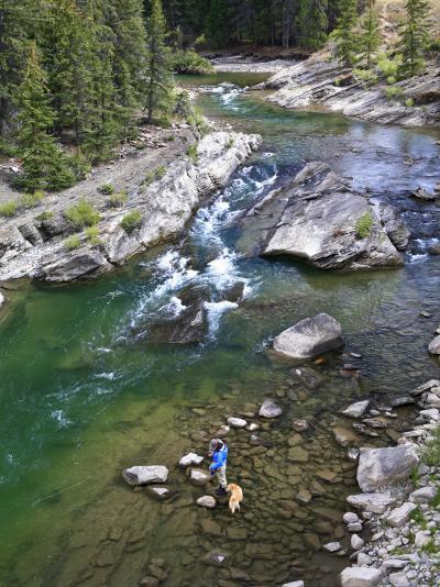 Late Season Fishing on the Gros Ventre River, Wyoming-Drew Rush-Photographic Print