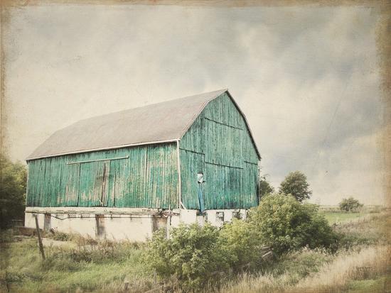 Late Summer Barn I Crop Vintage-Elizabeth Urquhart-Art Print