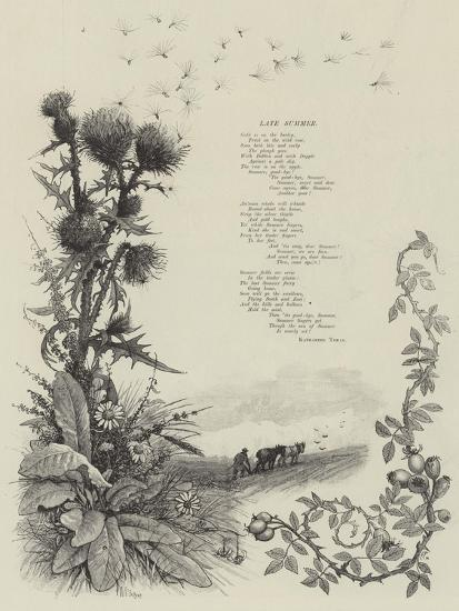 Late Summer--Giclee Print