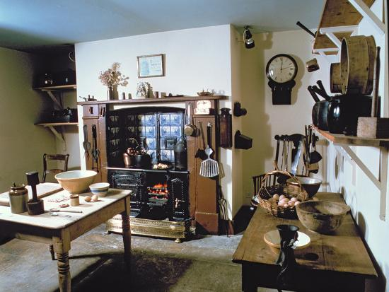 Late Victorian Kitchen (Scullery) with Working Range, Holst's Birthplace--Photographic Print