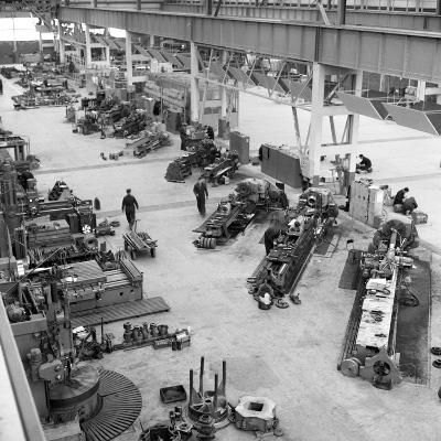 Lathe Workshop Area, Park Gate Iron and Steel Co, Rotherham, South Yorkshire, 1964-Michael Walters-Photographic Print