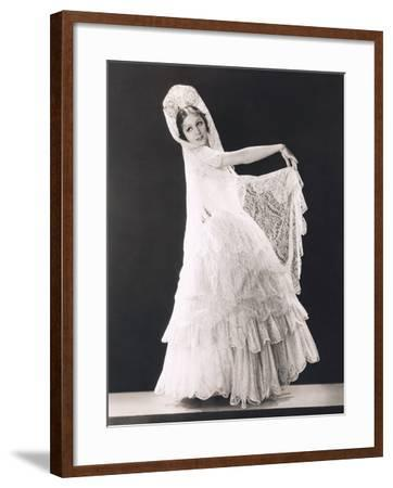 Latin Beauty Dressed in Lace--Framed Photo