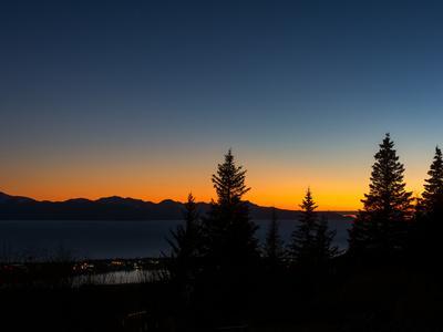 Last Color of Sunset over Homer Alaska