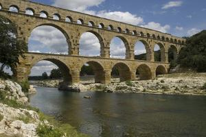 The Roman Aqueduct across the River Gard Was Built in the Middle of the First Century by LatitudeStock