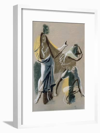 Latona and the Frogs, 1934-Hans Feibusch-Framed Giclee Print