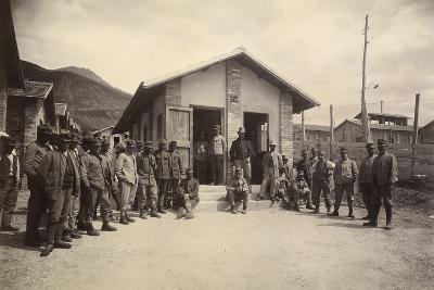 Latrine of the Third Sector with Deportees in the Fonte D'Amore Camp in Sulmona--Photographic Print