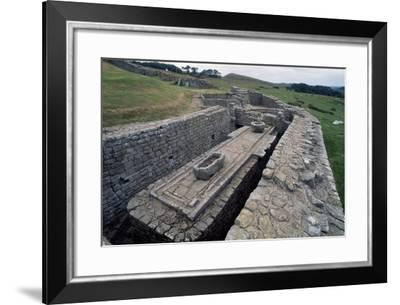Latrines in the Housesteads Roman Fort, Hadrian's Wall--Framed Photographic Print