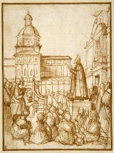 St. Mark Preaching in the Piazza by Lattanzio da Rimini