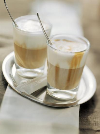 Latte Macchiato on a Tray--Photographic Print
