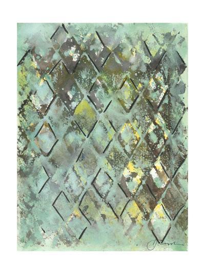 Lattice in Green I-Joyce Combs-Art Print