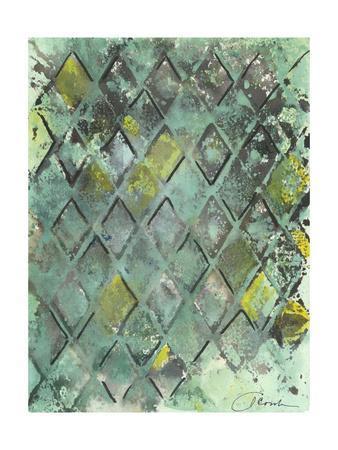 Lattice in Green II-Joyce Combs-Art Print