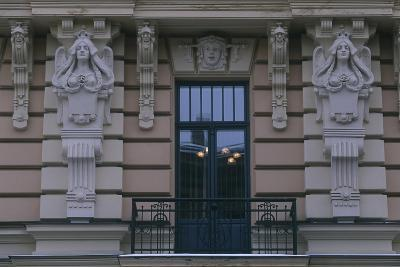 Latvia, Riga, Historic Centre, Building Exterior Detail--Giclee Print
