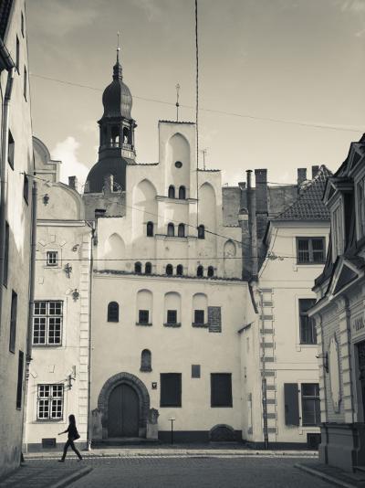 Latvia, Riga, Old Riga, Three Brothers Houses, Oldest in City-Walter Bibikow-Photographic Print