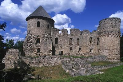 Latvia, Vidzeme, Cesis, Ruins of 14th Century Castle--Giclee Print