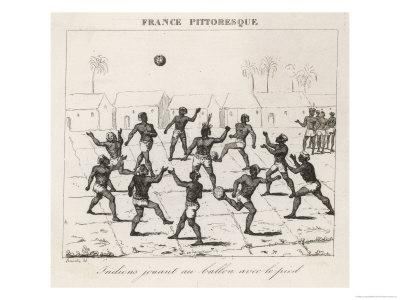 Native Guyanese Indians Play a Regional Variant of Football Reliant It Appears