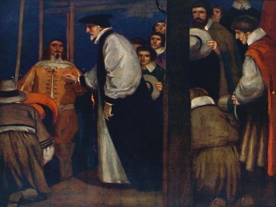 'Laud entering the Barge at Lambeth to go to the Tower', 1912-Unknown-Giclee Print