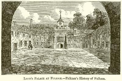 Laud's Palace at Fulham.--Falkner's History of Fulham-English School-Giclee Print