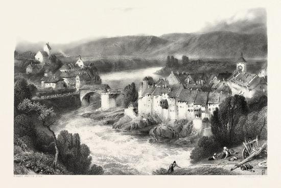 Lauffenberg, Laufenburg, Germany, Switzerland, 19th Century--Giclee Print