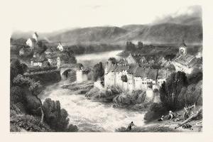 Lauffenberg, Laufenburg, Germany, Switzerland, 19th Century