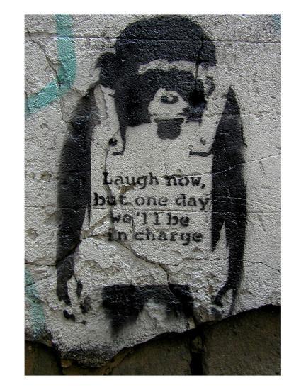 Laugh Now-Banksy-Art Print