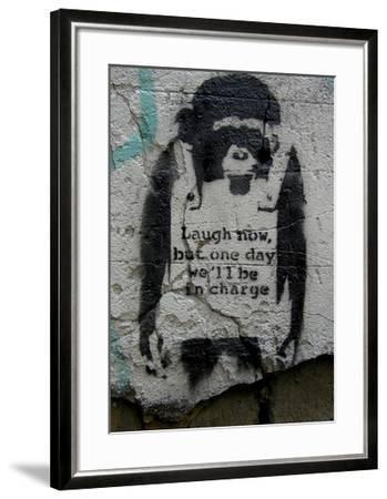 Laugh Now-Banksy-Framed Giclee Print