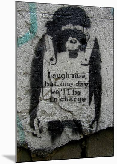 Laugh Now-Banksy-Mounted Giclee Print