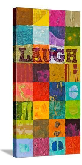 Laugh--Stretched Canvas Print