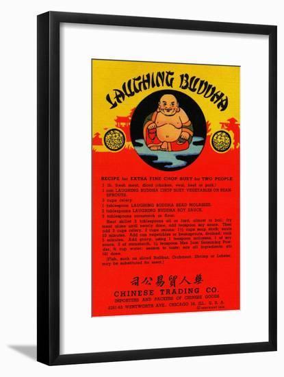 Laughing Buddha-Curt Teich & Company-Framed Art Print