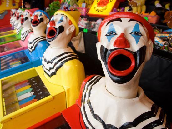 Laughing Clowns Side-Show, Rotorua, Bay of Plenty, North Island, New Zealand-David Wall-Photographic Print