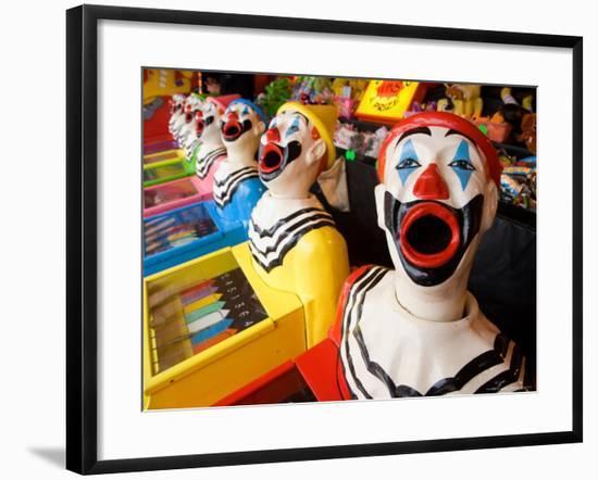 Laughing Clowns Side-Show, Rotorua, Bay of Plenty, North Island, New Zealand-David Wall-Framed Photographic Print
