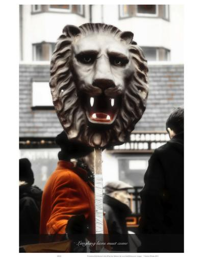 Laughing Lions Must Come-Graham Rhodes-Art Print