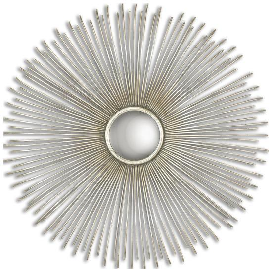 Launa Round Silver Mirror--Wall Mirror