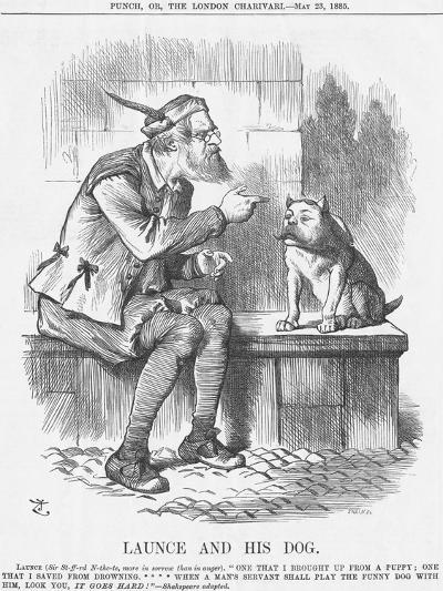 Launce and His Dog, 1885-Joseph Swain-Giclee Print